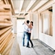 Couple dancing in a house