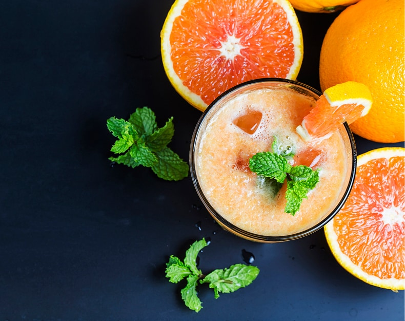 Boost processing of colored fruit juices
