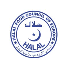 Halal certified by Halal Food Council of Europe